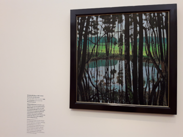 """Pond with Alders near Steinsdorf"" - Wolfgang Mattheuer, 1985 - Barberini Museum"