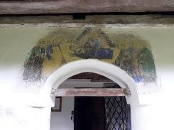 """Memorialul """"Nicolae Bălcescu"""" - biserică, detaliu frescă """"Adormirea Maicii Domnului"""", sec. XIX"""